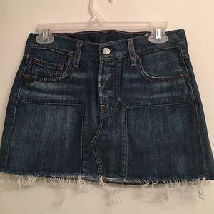 75 levi s dresses skirts levi s white denim skirt