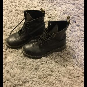 Black leather doc martens