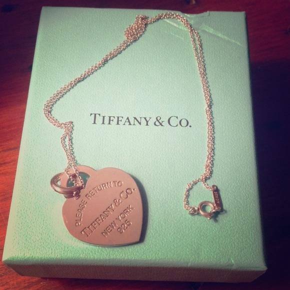 7e74ce4eb4 Tiffany & Co. Jewelry | Return To Tiffany Medium Heart Tag Necklace ...
