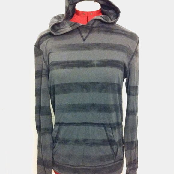 e75905dacf PacSun On The Byas Grey Marl Striped Light Hoodie.  M 562d7bbd2fd0b78e3b005815