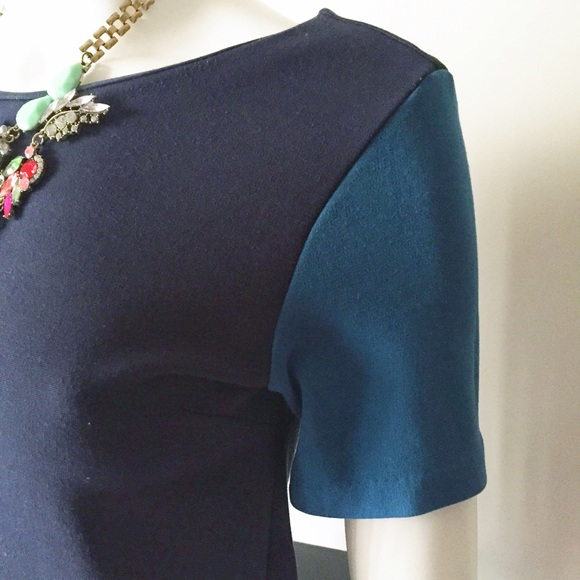 Zara Tops - Zara Colorblock Blue, Aqua, Teal Short Sleeve Top
