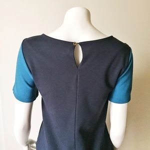Zara Tops - Zara Colorblock Blue, Aqua, Teal Short Sleeve Top