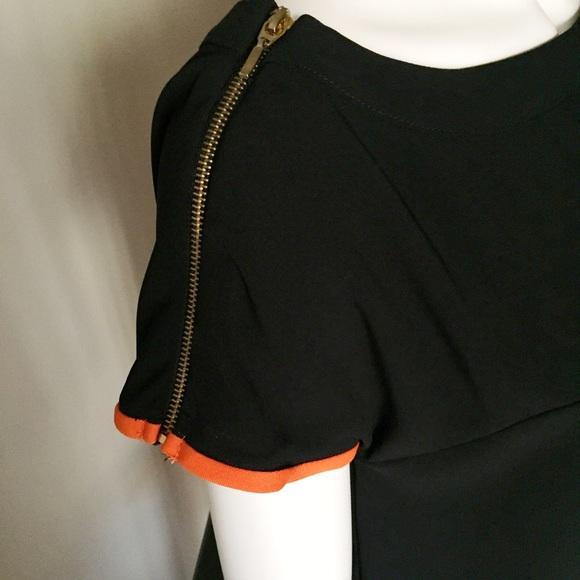 Zara Tops - Zara Shoulder Zipper Detail Black and White Top
