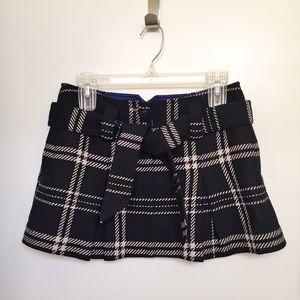 Dresses & Skirts - Black School Girl Mini Skirt w/ Cream Lines & Bow