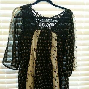 Dresses & Skirts - Boho style dress with crochet neckline