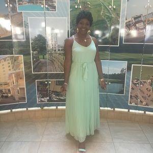 Pleated goddess maxi dress