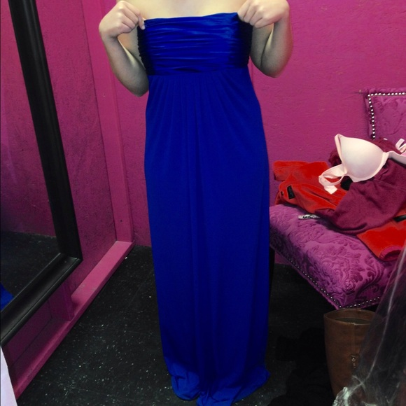 Davids Bridal Dresses Davids Bridal Royal Blue Prom Dress Poshmark