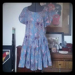 Classic Dresses & Skirts - Cotton blue floral Boho dress L