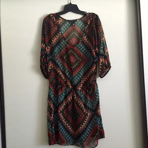 INC pattern sheer dress