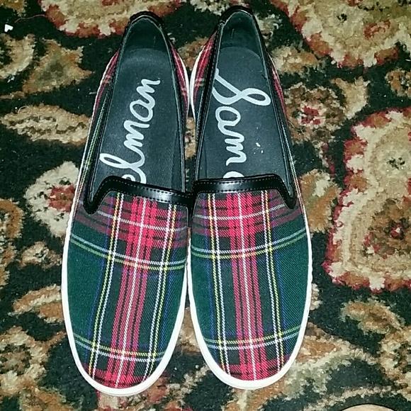 eeac3db1c Sam edelman plaid slip on sneakers 8.5. M 562dc734d3a2a758c6015482
