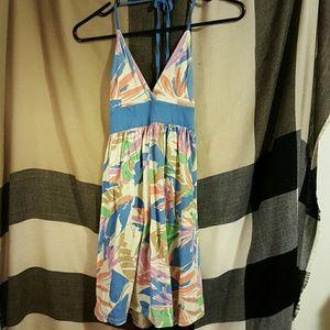 ezekiel  Dresses & Skirts - Ezekiel watercolor floral halter dress banana leaf