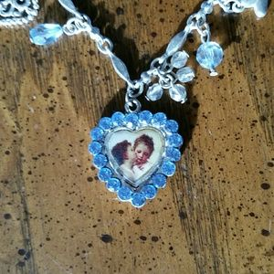 Jewelry - Cherub heart necklace