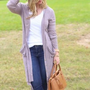 Free People Tops - Free people taupe rubbed maxi cardigan