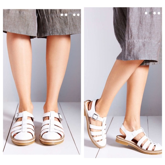 deb4cb72a9b Urban Outfitters Lori Shiny White Strappy Sandals NWT