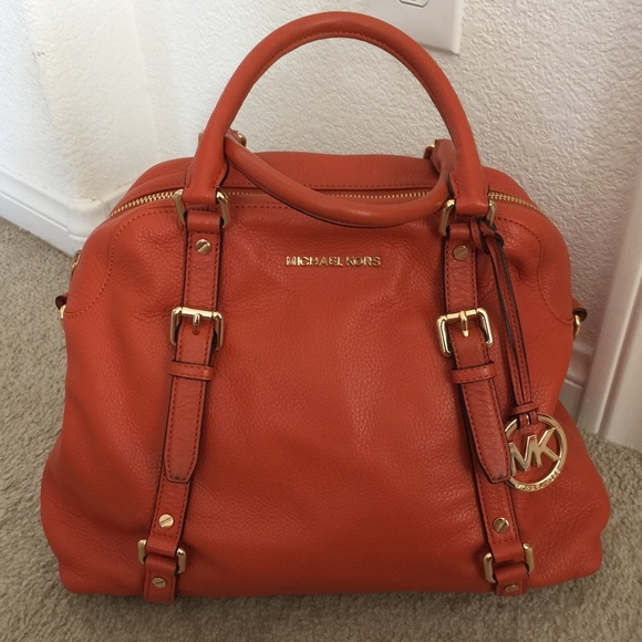 6266678121b4 inexpensive michael kors bedford bowling satchel red white a7a8b b047b