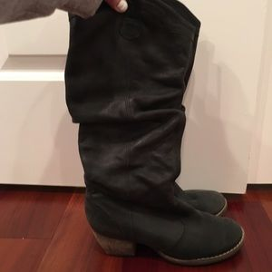 Shoes - Black Genuine Leather Boots
