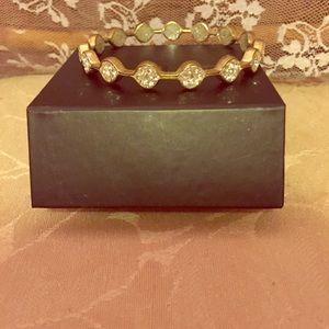 Kitsy Lane Jewelry - Druzy gold bangle.