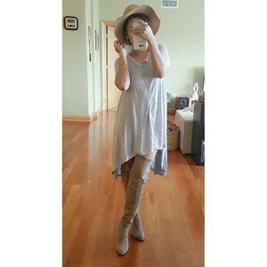  Boho High Low Jersey Dress 