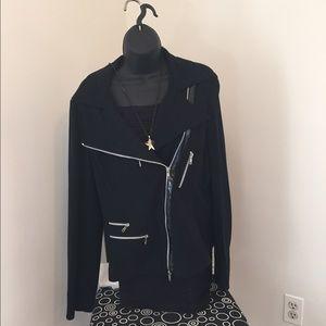 Jackets & Blazers - Stretch biker jacket