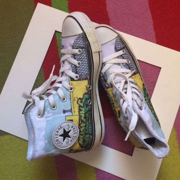 Converse Shoes - Graffiti Style Converse High-Tops 22d16ee6cc65