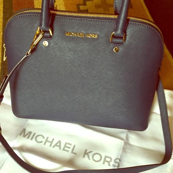 3bb86293463b07 MICHAEL Michael Kors Bags | Cindy Large Dome Satchel Navy | Poshmark