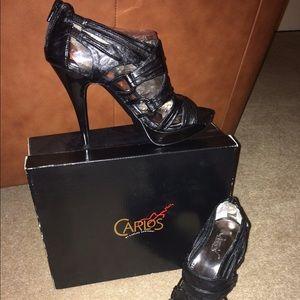"Carlos Santana ""Regent"" Sexy Peep Toe High Heels"
