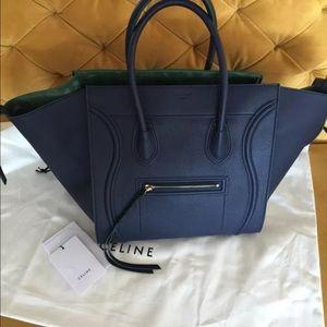 celine nano luggage price - 38% off Celine Handbags - Celine Phantom Luggage Navy Green Bag ...