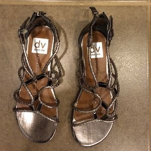 Dolce Vita Pewter Sandals Size 6