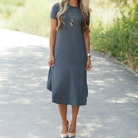 273b97febf9f0e Flamingo Urban Dresses   Skirts - Gray Midi Dress