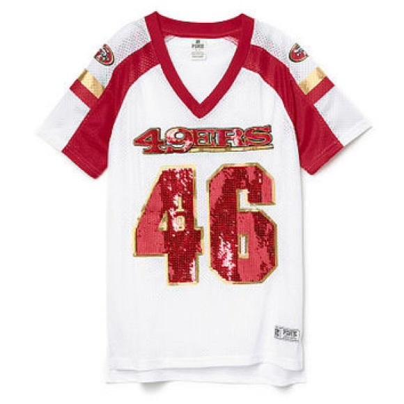 brand new c0497 c2b97 Victorias secret PINK sequin 49ers jersey