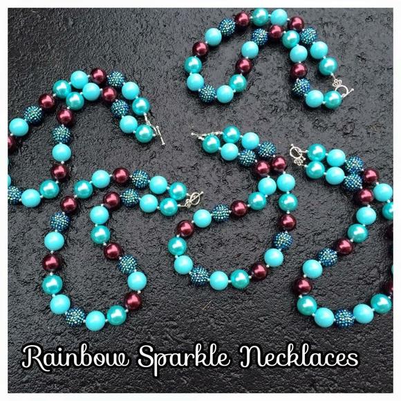 NWOT WDBJ7 Rememberance Rainbow Sparkle Necklace