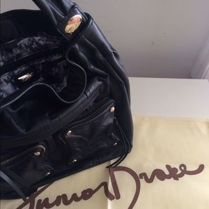 Junior Drake Black Leather Bag
