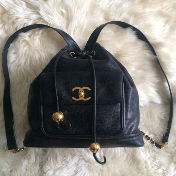 40e6b1497b9 CHANEL Bags   Authentic Vtg Caviar Drawstring Backpack   Poshmark