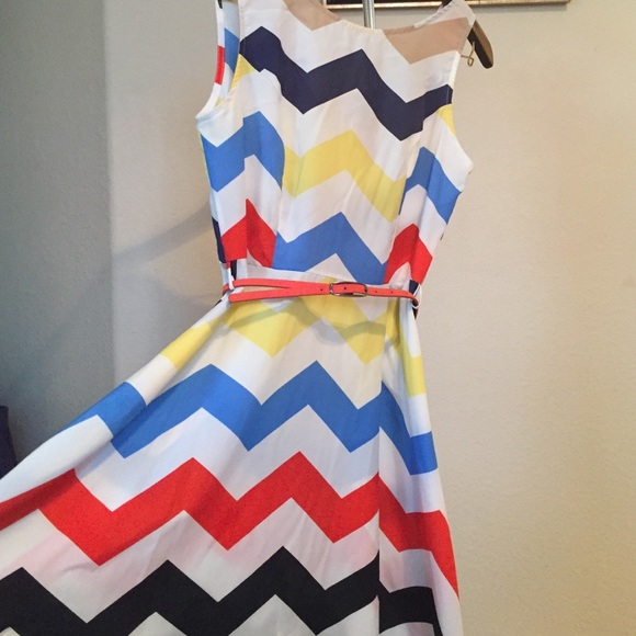 46 off dresses amp skirts colorful chevron dress from