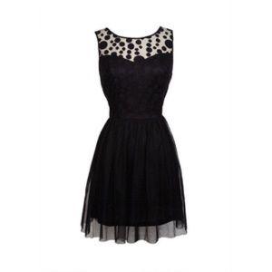 HP 11/13 Delia's black polka dot dress