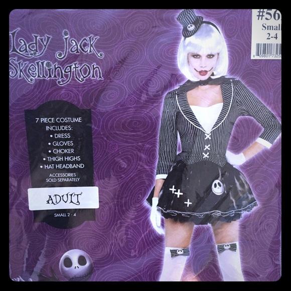 55 Off Dresses Amp Skirts Lady Jack Skellington Costume