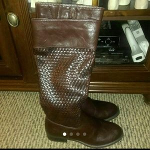 Shoes - New Basket Weave Brown Riding Boots Sz 6