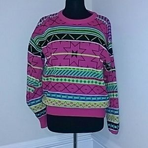 Sweaters - Neon colored sweater vintage ugly christmas