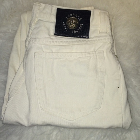 79% off Versace Pants - New Versace Ittierre white jeans from ...