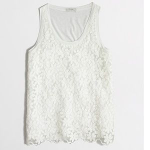 J. Crew Lace-front tank top