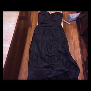 A BCBG strapless formal dress
