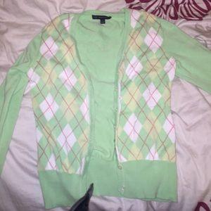Brooks Brothers argyle cardigan