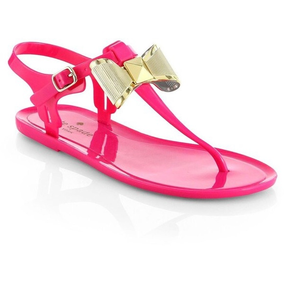 1ea60479acd kate spade Shoes - Kate spade pink fab bow jelly sandals flip flops