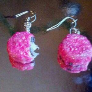 Jewelry - Snowball cake earrings