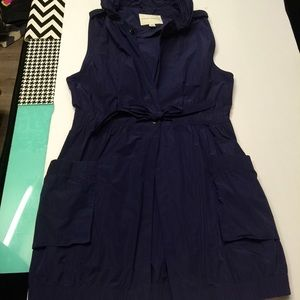 BANANA REPUBLIC blue parachute windbreaker dress