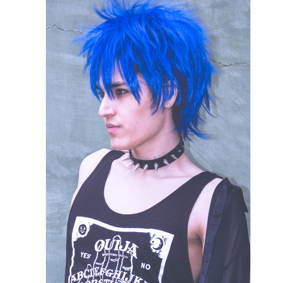 Hot Topic Accessories - 💙Blue Fluffy Unisex Style Rocker Custom Wig Anime