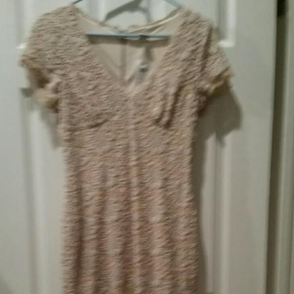 Cache Dresses & Skirts - Beautiful beige lace dress