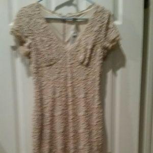 Cache Dresses - Beautiful beige lace dress