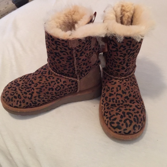 Girls Cheetah Ugg Boots