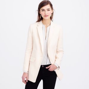 J. Crew Jackets & Blazers - J.Crew Collection Long One-Button Blazer in Ivory